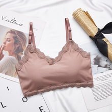 Lace Tube Top Wireless Bralette Women Bra Seamless Wrapped Chest Sexy Female Crop Underwear