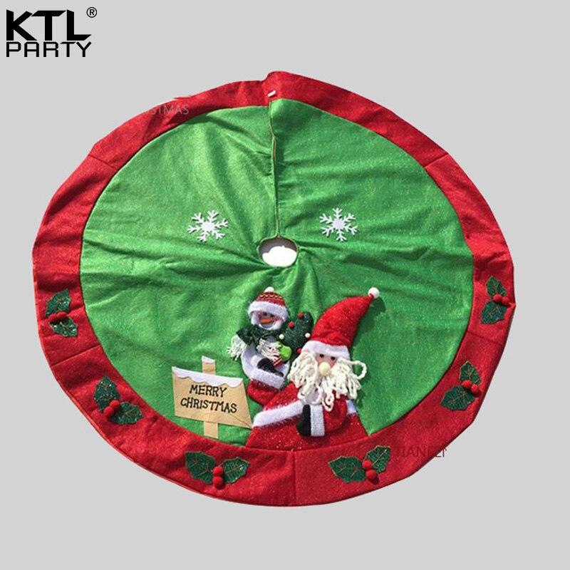 Linen Christmas Tree Skirt