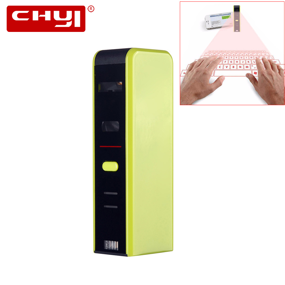 цена на CHYI Bluetooth Laser keyboard Wireless Virtual Projection Mini Keypads for Iphone Android Smart Phone Ipad Tablet PC Computer