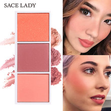 Sace Lady Blush On Palet Wajah Make Up Tahan Lama Alami Pipi Perona Pipi Bubuk Rouge Makeup Mineral Palet Kontur Kosmetik(China)