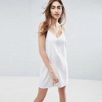 Летние платья 2017 бренд женские сексуальные спагетти ремень дамы офис мини dress v шеи backless dress vestidos robe vetement femme
