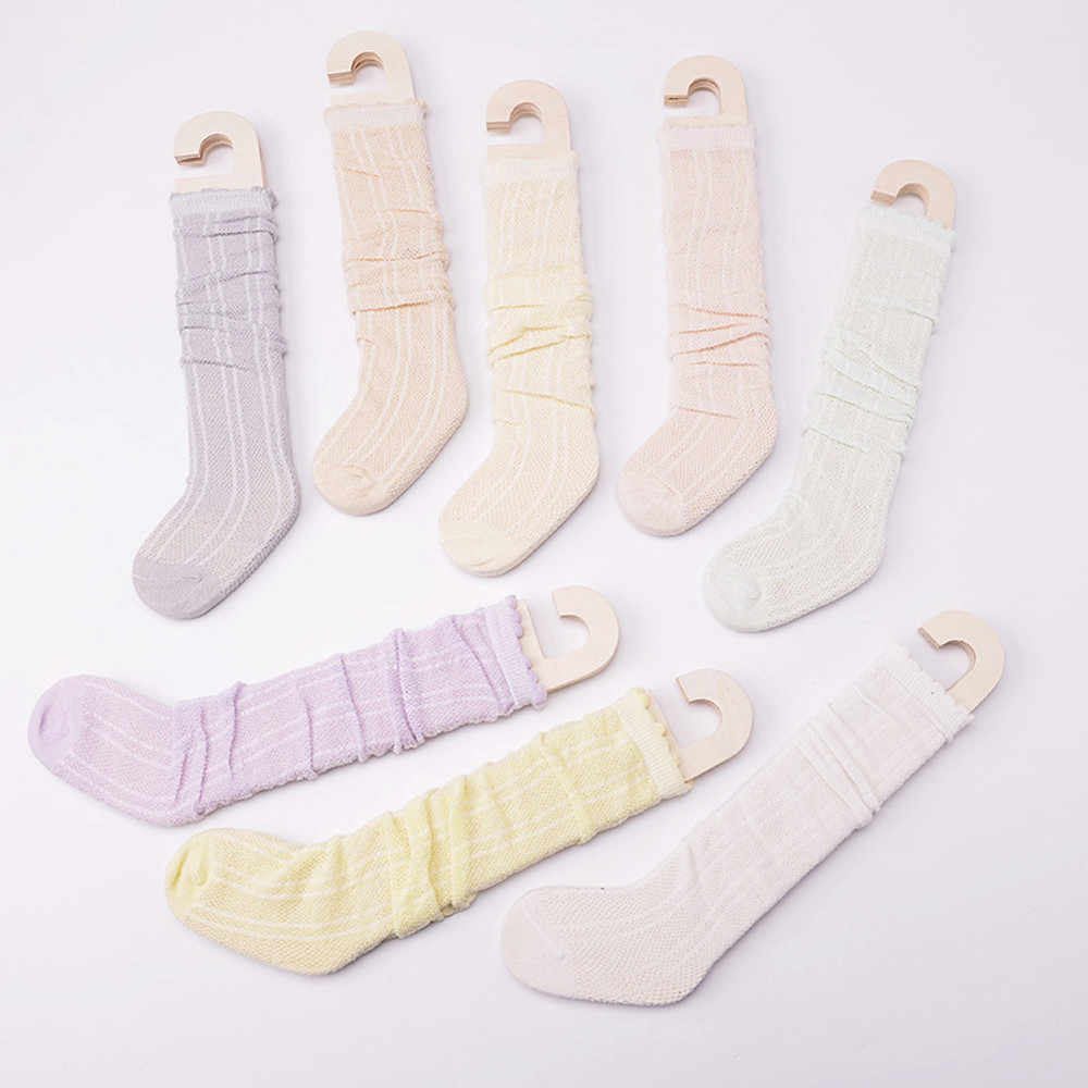 2e9a756b319 ... 1 Pairs Cotton Knee High Socks Casual Stockings for Baby Boys Girls  Toddler Kids High socks ...