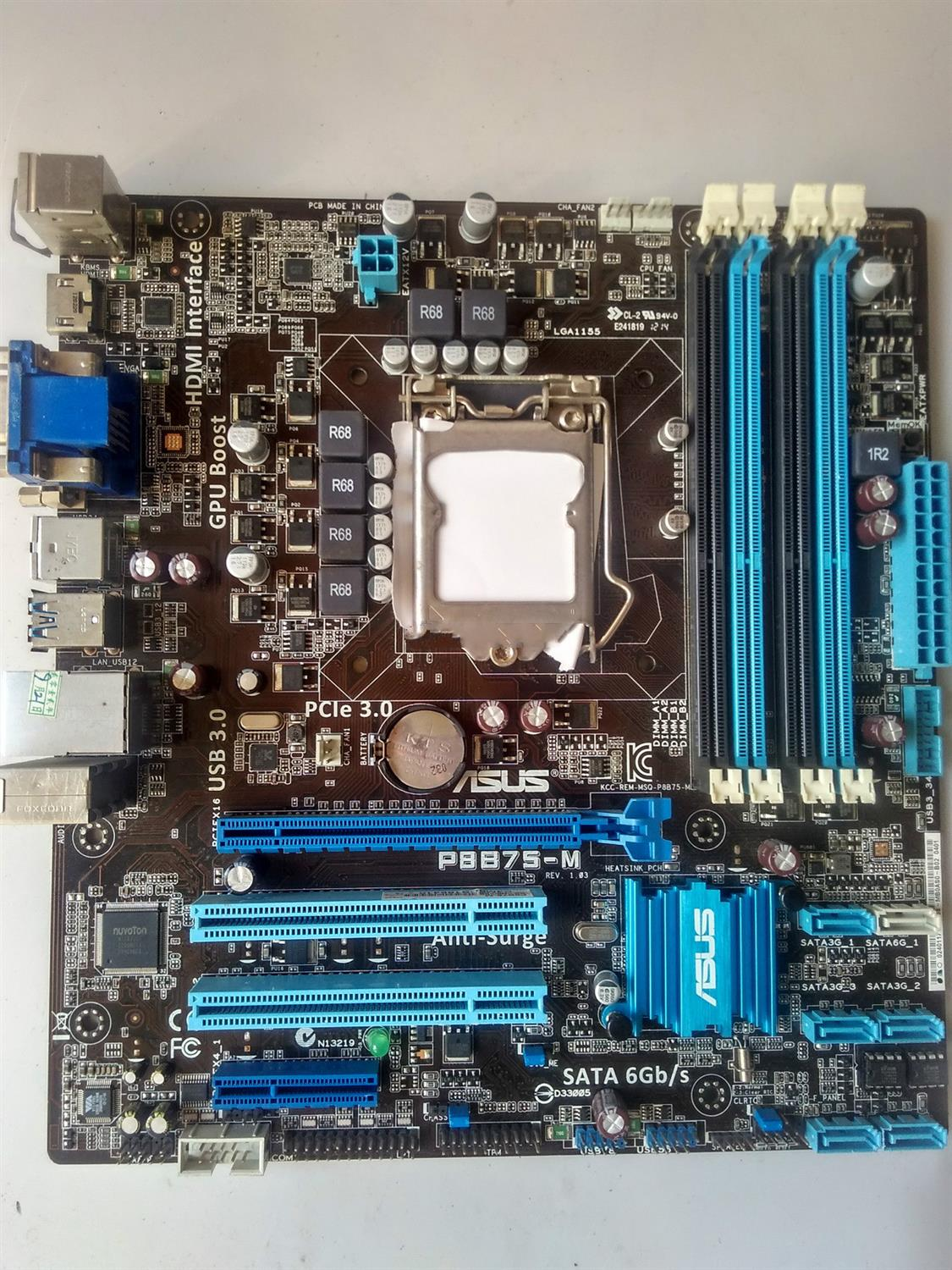 Used,for Asus P8B75-M Motherboard B75 Socket LGA 1155 i3 i5 i7 DDR3 SATA3 USB3.0 asus p8b75 m desktop motherboard b75 socket lga 1155 i3 i5 i7 ddr3 sata3 usb3 0 uatx on sale