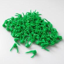 DIY בלוק בריק MOC חלקי דשא פרחי צמחים בוש עץ אבני בניין תואם עם Legoed להרכיב חלקיקי 100Pcs