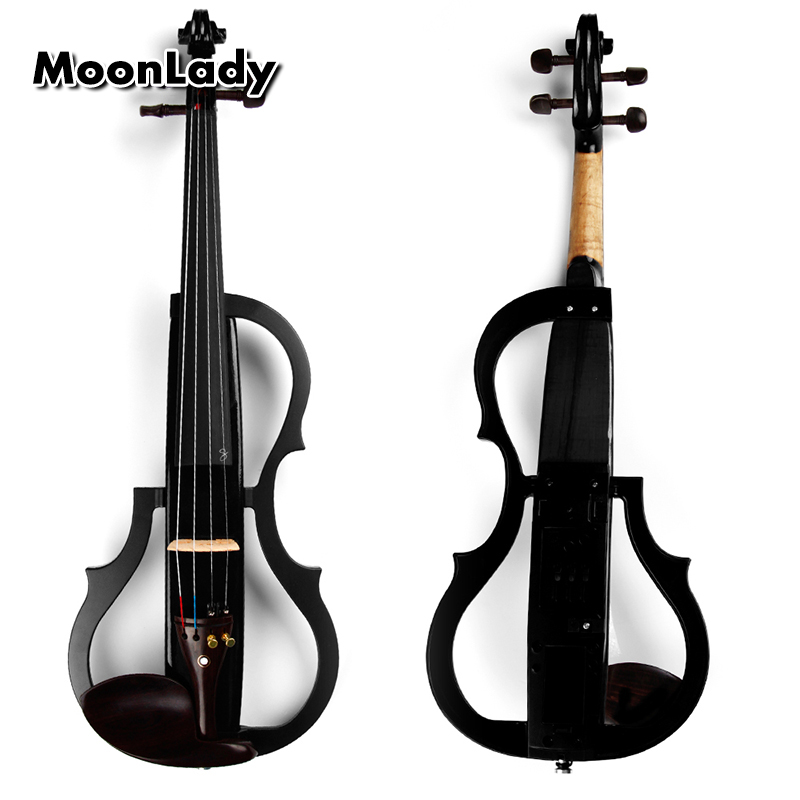 4/4 Wood Electric Violin Black Musical Instruments High Quality Stringed Instrument Suitable for Beginners and Music Amateurs 4 4 high quality musical instruments violin bow electric violin handcraft violino