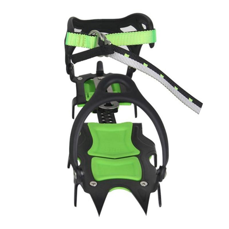 BRS-S1A Fourteen Teeth Bundled Crampons Professional Ice Gripper for Climbing Outdoor Sports Tools Accessories brs s3 ultralight 14 teeth aluminium alloy bundled crampons ice gripper outdoor ice climbing kits