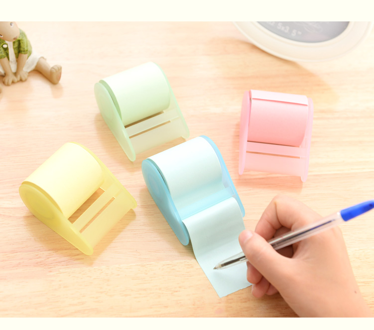 New arrival china stationery market logo print Sale price customized round roll sticky note book in stock