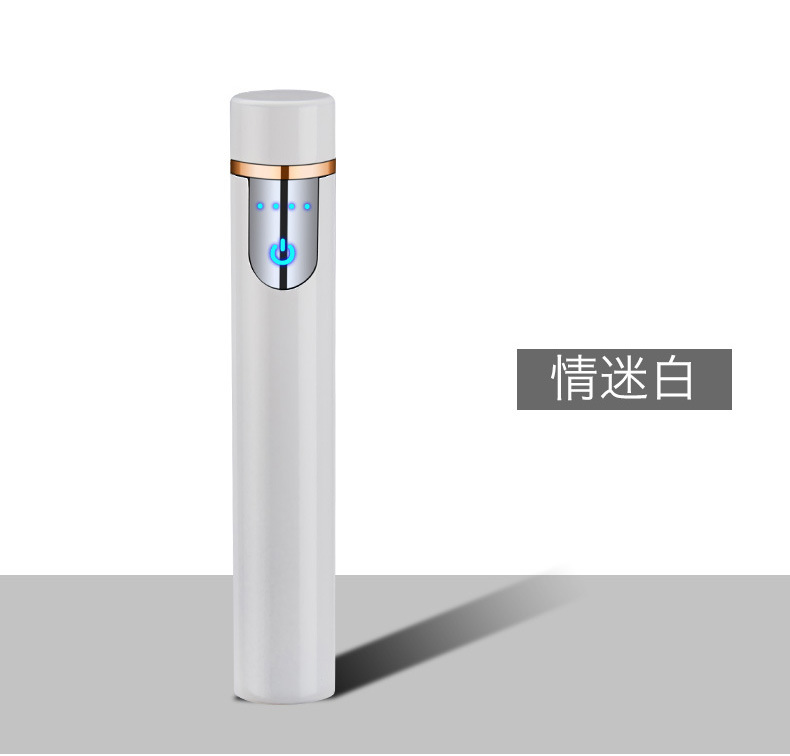 HTB1 U.EaizxK1RkSnaVq6xn9VXaR Mini LED Smart Touch USB Electrical Lighter Finger Touch Induction Cigarette Lighter Light Weight Plasma Lighter Gadgets For Men