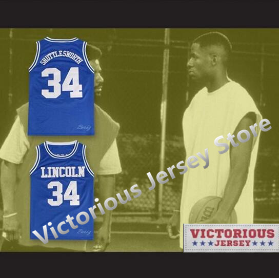 54736cde43e Minanser Jesus Shuttlesworth 34 Lincoln High School Basketball Jersey  Men-in Basketball Jerseys from Sports   Entertainment on Aliexpress.com