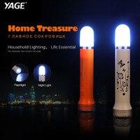 YAGE פנס Led לילה אור זוגי Lanmp 2-מצבים לפיד Literna Laterna 2000 mAh סוללה בתוך לאמפה Torche ארה