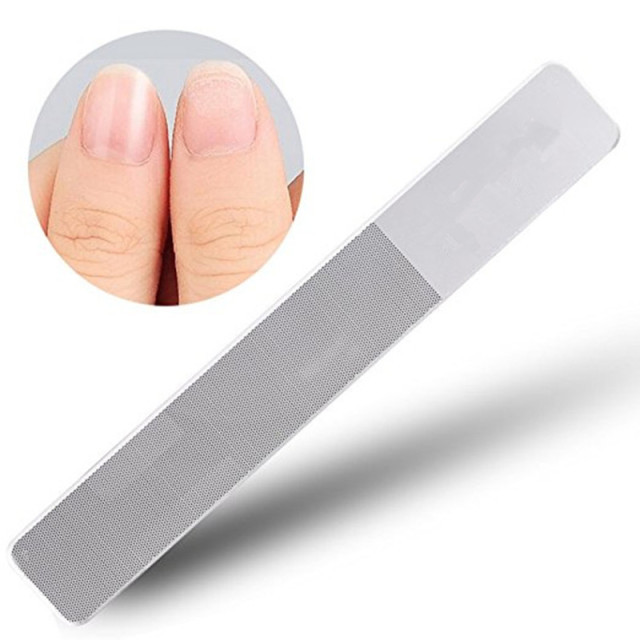 Glass Nail File Nail Shiner Buffer Manicure Repair Tool For Natural ...