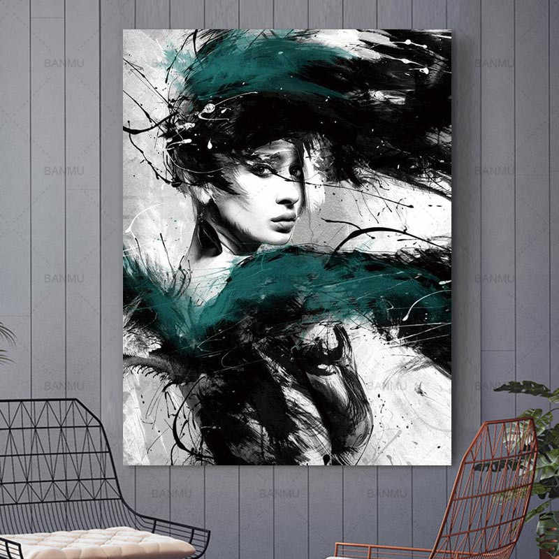 Canvas Painting Wall Art Picture Modern home decor Wall art colorful figures Wall Picture print  for living room Art Decorations
