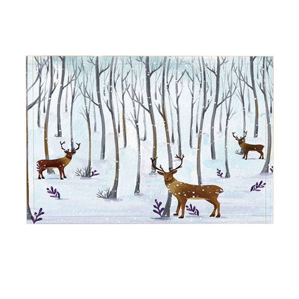 Animal Decor Bath Rugs By Winter Deer