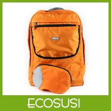 Ecosusi Orange Foldable School Backpacks Lightweight  Backpack Trolley Shoulder Pack Free Shipping
