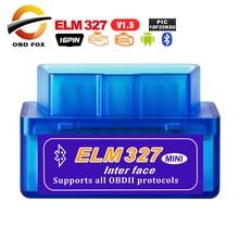 ELM327 Usb Mini Bluetooth V1.5 PIC18F25K80 OBD2 Mã Máy Quét V2.1 Siêu Mini ELM 327 Wifi Android Obd2 Công Cụ Chẩn Đoán