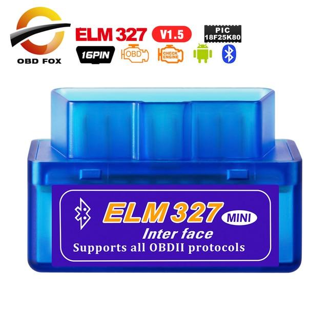 ELM327 usbミニbluetooth V1.5 PIC18F25K80 OBD2コードリーダースキャナV2.1スーパーミニelm 327 wifiアンドロイドobd2診断ツール