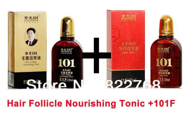 Zhangguang 101 Folículo Del Pelo Tónico Nutritivo + 101F, 2 unidades en un lote Anti caída del cabello Nuevo Crecimiento Del Pelo fija 100% original