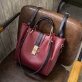 New PU women handbags leisure letter bag 2 piece shoulder bag multi-function oblique cross bag