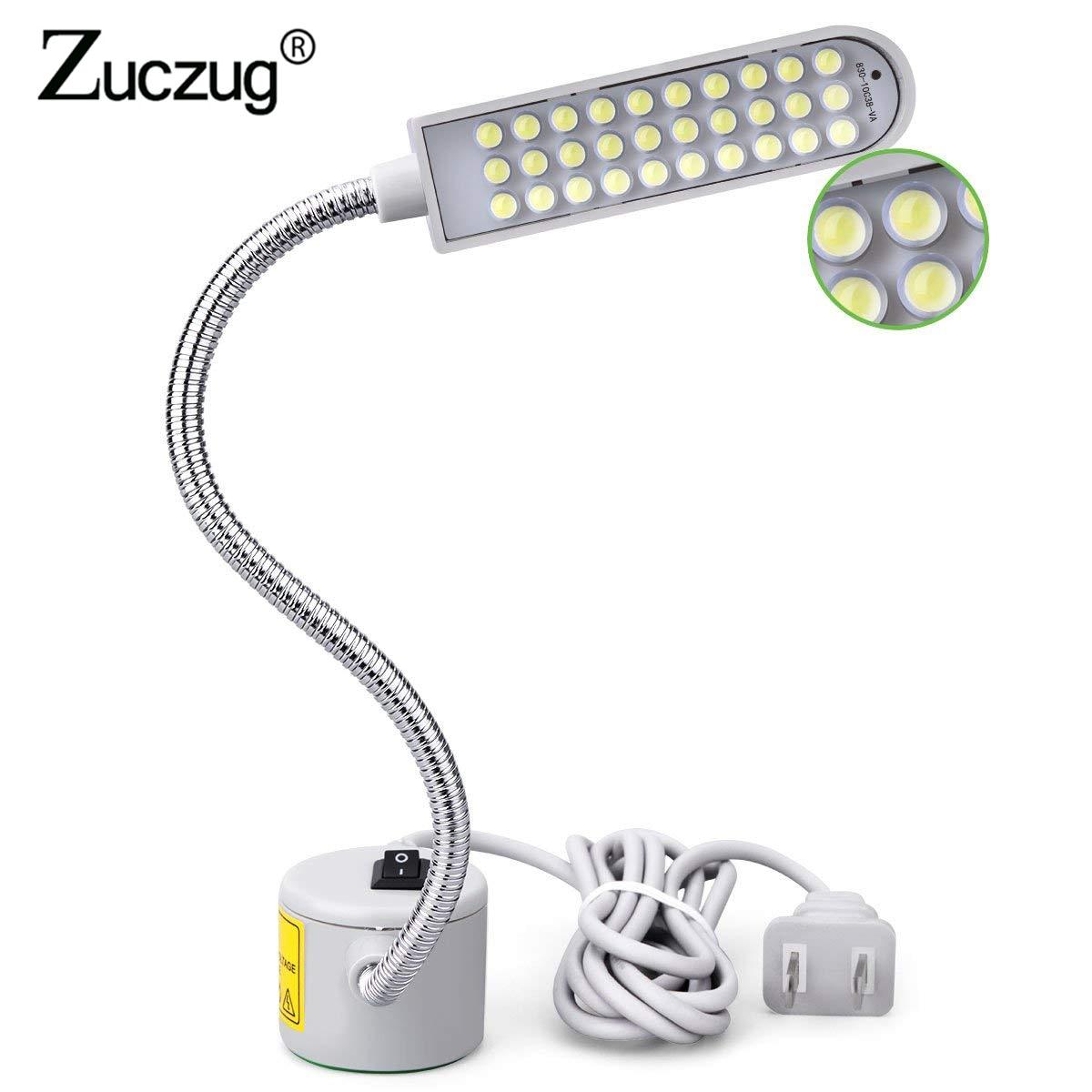Erfinderisch Led Lampe Für Nähen Maschine Tragbare Licht 2 W 30led Magnetische Montage Basis Schwanenhals Lampe Für Nähmaschine Beleuchtung Uns /eu Stecker Schreibtischlampen