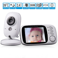 VB603 Video Baby Monitor 2 4G Wireless 3 2 Inches LCD 2 Way Audio Talk Night