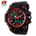 2016 Nueva TTLIFE SportsWatches Luxury Brand Men Militar Digital LED Relojes de pulsera de Cuarzo Correa De Caucho Reloj de Los Hombres relogio masculino