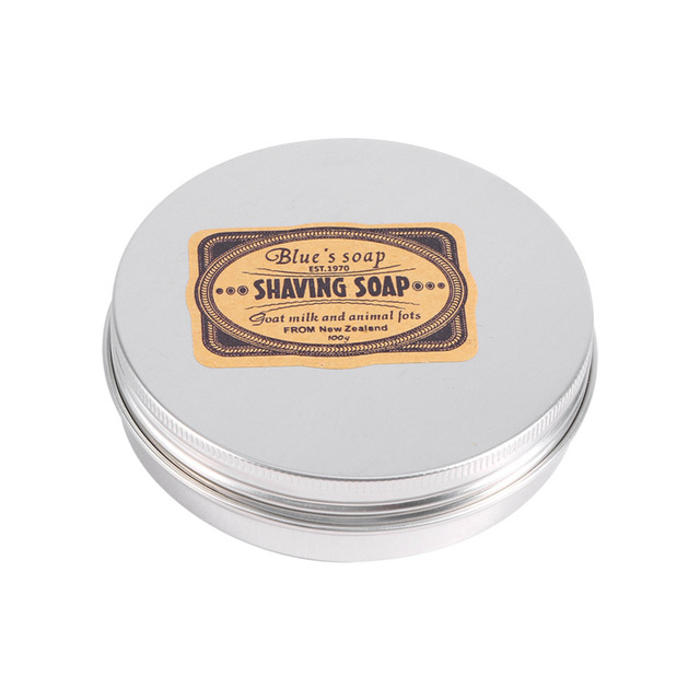 Shaving Cream Deluxe Men's Mustache 1 Pcs Shaving Soap Round Facial Care Goat Milk Beard Shaving Cream Tool Shave Soap Removal 1