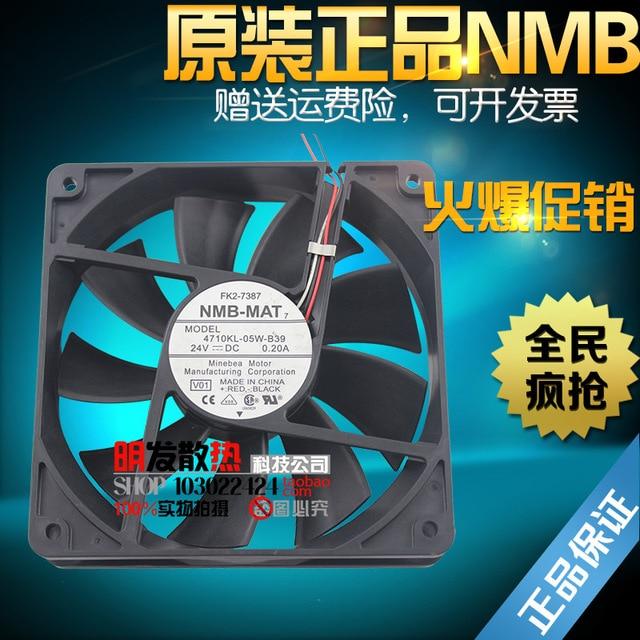 Original fan 12 CM 24 V 0.20A 4710KL-05W-B39 tres cables del ventilador del inversor