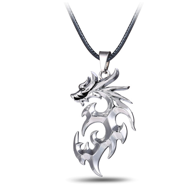 New design personality silver plated pendant white gold dragon new design personality silver plated pendant white gold dragon pendants necklaces leather chain for men party mozeypictures Gallery