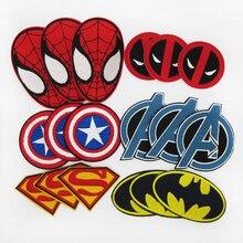 18pcs Mixed Lot Super Hero Cloth Stickers Batman SpiderMan Superman Deadpool Captain America Avengers Logo DIY
