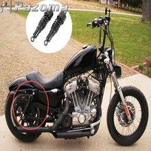 Motorcycle Black Shock Absorbers Front Rear Lowering Slammer Kit for Harley Sportster XL 883 1200 XLH883 1200 1988-2003 цена