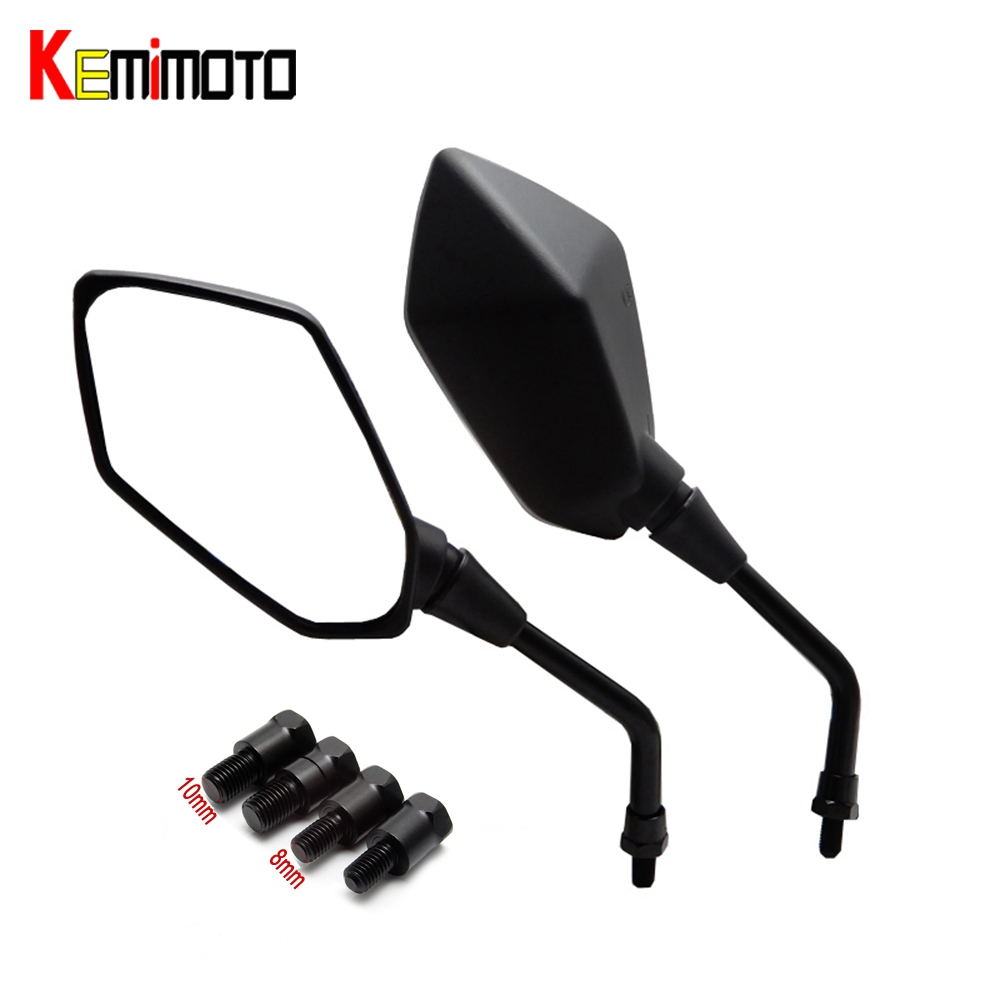 KEMiMOTO Motorcycle rearview mirror 8mm 10mm Universal fit for BMW R1200GS for Kawasaki z800 for Honda