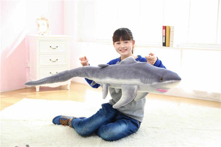Nadziewane zabawki, duży 140 cm shark pluszowa zabawka lalka na prezent urodzinowy w655
