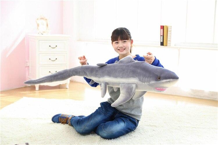 Peluche, grand 140 cm requin en peluche poupée cadeau d'anniversaire w655