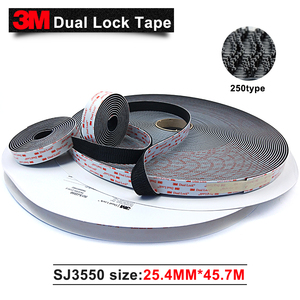 Image 1 - 3M SJ3550 adhesive Sotchmate fasterners with acrylic acid Dual Lock tape 1in*50yards 2rolls/carton