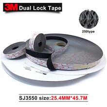 3M SJ3550 клейкие застежки с акриловой кислотой, двойная фиксирующая лента, 1 дюйм * 50 ярдов, 2 рулона/коробка