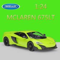 WELLY 1:24 Diecast Simulator Model Car MCLAREN 675LT Racing Car Metal Toy Cars Toys For Children Boys Gift Collection Decoration