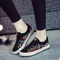 Fashion Women's Shoes Spring Summer Lace up Women Casual Shoes Graffiti Breathable Student Shoe