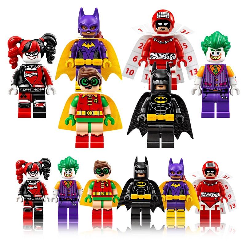 xinh 1pcs Super Heroes Harley Quinn Joker Batman Movie Catwoman Robin Poison Building Blocks Compatible With LegoINGly Batman a toy a dream super heroes movie joker poison ivy calendar of people batman robin bricks building blocks toys lele 34012