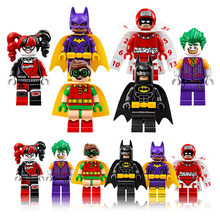 xinh 1pcs Super Heroes Harley Quinn Joker Batman Movie Catwoman Robin Poison Building Blocks Compatible With LegoINGly Batman