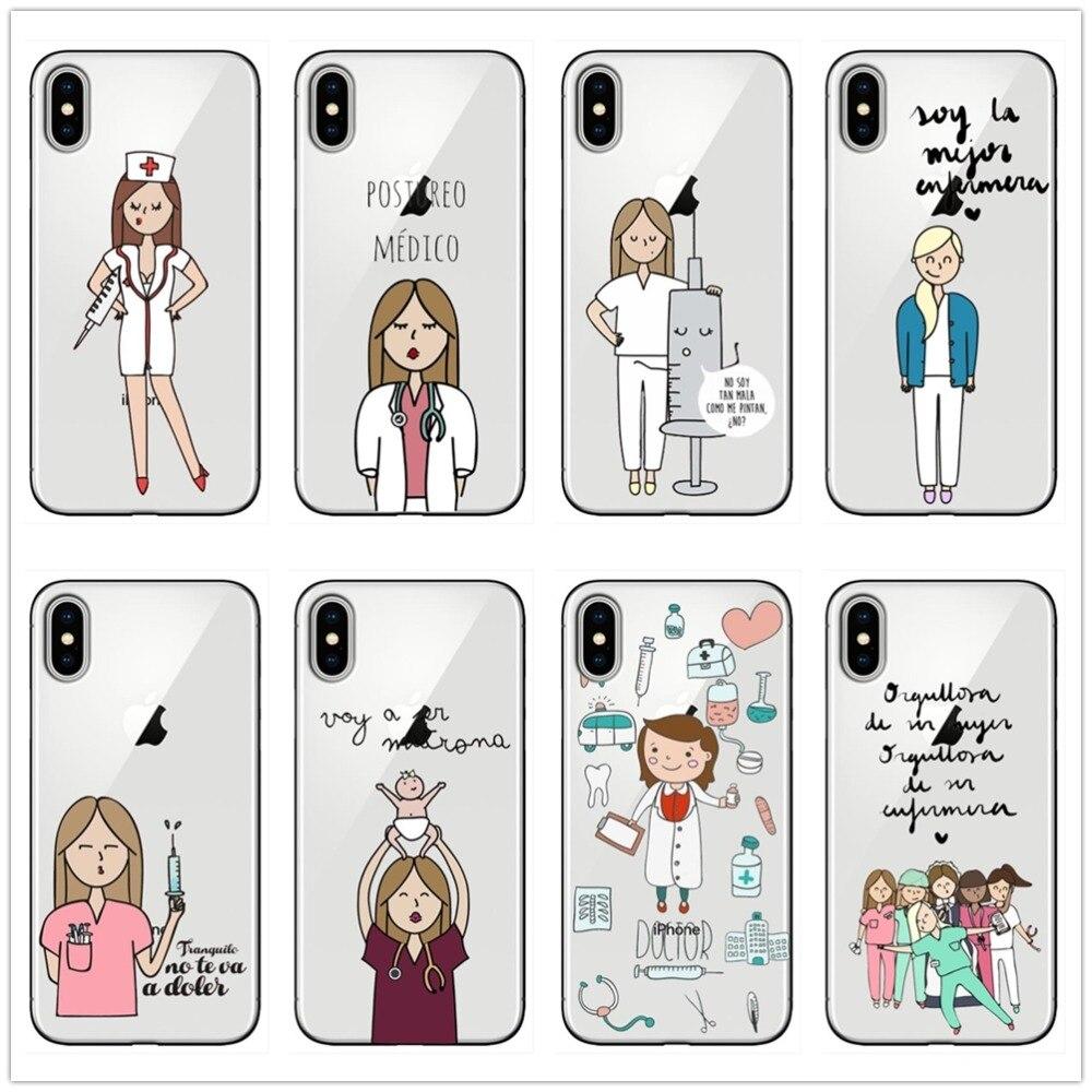 Cellphones & Telecommunications Spain Cute Cartoon Medicine Nurse Doctor Dentist Tpu Soft Silicone Case For Iphone X10 Xr Xs Max 7 8 8plus 5s Se 6 6s 6plus