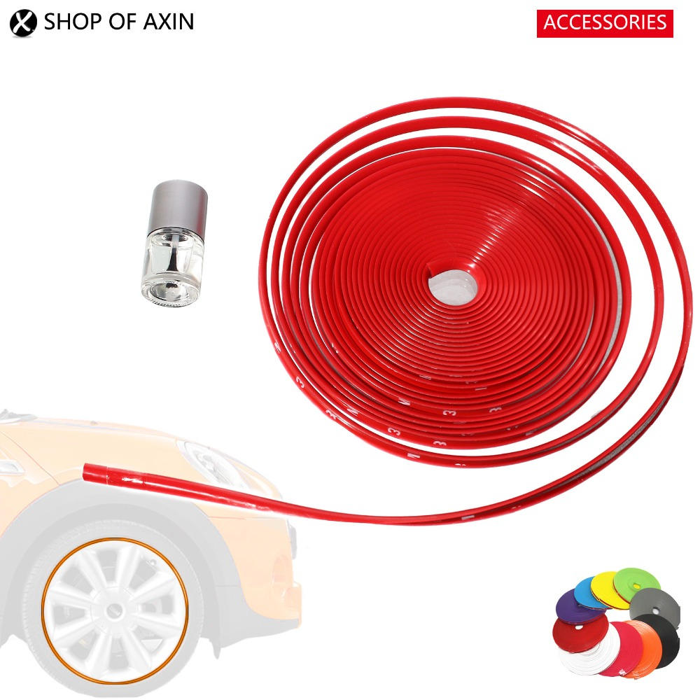 Wheel Rim Stripe Decal Protective Trim Self Adhesive Tape For Mini cooper Countryman R50 R53 R55 R56 R57 R60 R61 F54 F56 F60 door rocker panel sticker sport style decoration for mini cooper hatch clubman countryman r50 r53 r55 r56 r60 r61 f54 f55 f56