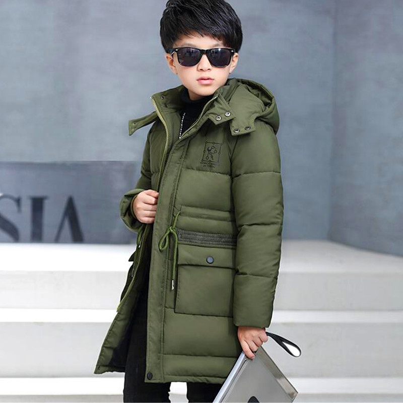 Eafreloy Super Warm  Kids Boys Hooded Coat Fashion Boys Winter Cotton Parkas Thick Jackets Children Solid Outwear Leisure T49 new winter women down cotton jackets fashion solid color hooded thicker keep warm casual tops plus size elegant coat okxgnz a752