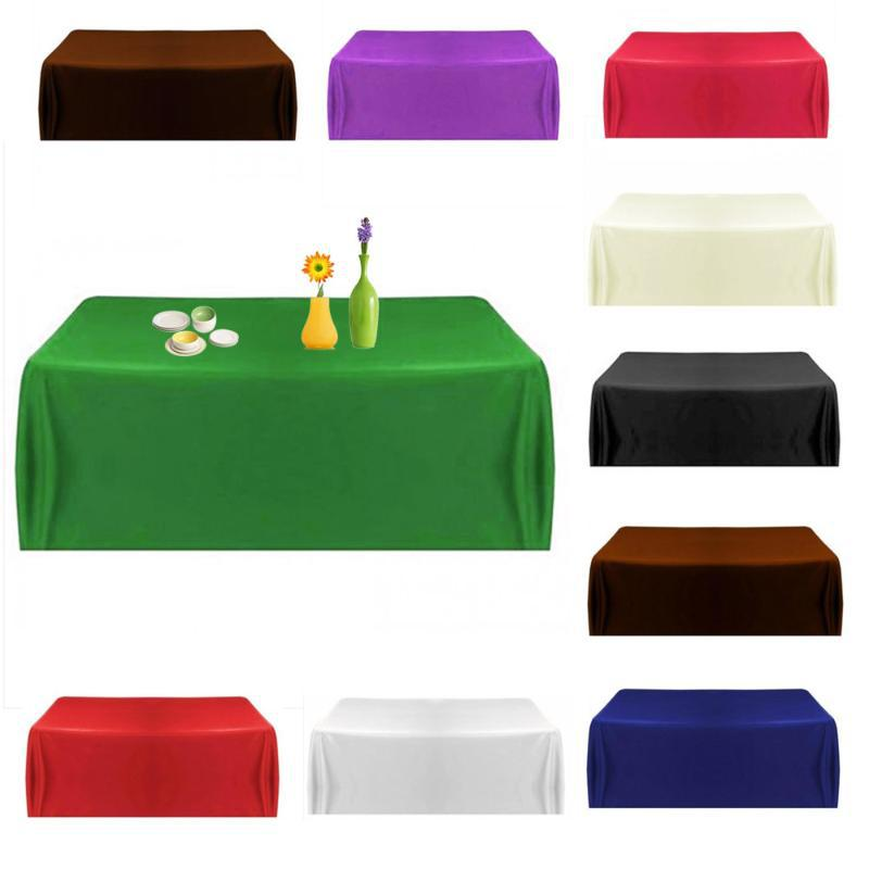 New 10 Colors Satin Tablecloth Table Cover Table Cloth Tableware Wedding  Party Restaurant Banquet Home 145x145cm In Tablecloths From Home U0026 Garden  On ...