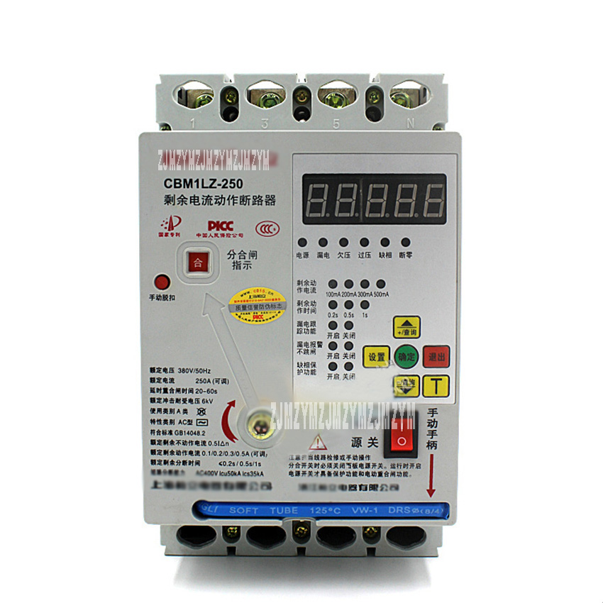 CBM1LZ 4P 100A Intelligent Three-phase Leakage Under-voltage Protector 380V Automatic Reclosing Overload Short Circuit Breaker рубанок bosch gho 6500 professional