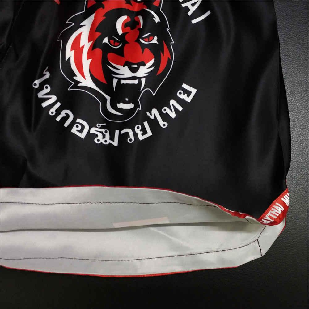 Mmatrunks Tiger Gambar MMA Celana Pendek Muay Thai Tinju Celana Pendek Pria Kickboxing Boxeo Bergulat Melawan Tempur Olahraga Celana Pendek Pria
