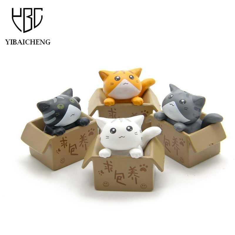 Bonito Procuram Nutrir Queijo Gato Dos Desenhos Animados Anime Figura de Ação da Resina DIY Brinquedos Modelo Para As Crianças Crianças Brinquedos Meninas Presentes de Natal
