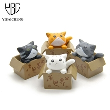 Cute Seek Nurturing Cheese Cat Cartoon Anime Action Figure Resin Toys DIY Model For Children Kids Christmas Toys Girls Gifts