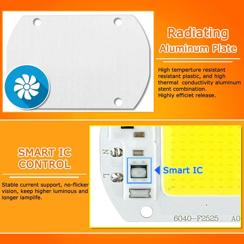 Image 4 - 50Pcs COB LED Chip 10W 15W 20W 30W 50W 220V 240V Input High Lumen LED Bulb Lamp For DIY Floodlight Spotlight-in LED Chips from Lights & Lighting
