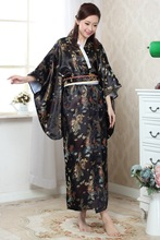Chinese Traditional  Gown Women's Satin  Kimono Robe Regular Size