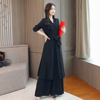 Women Chiffon Jumpsuits Summer Sleeveless V Neck Jumpsuits Wide Leg Pants Sashes Pleated Fashion Rompers Summer Casual Playsuits